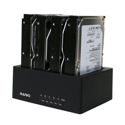 麦沃 MAIWO K3084 SATA4盘位硬盘底座 硬盘架脱机对拷克隆 拷贝机 硬盘盒