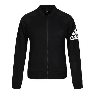 阿迪达斯Adidas 2018秋季女士立领针织休闲运动夹克外套DM5339
