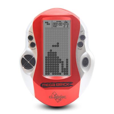 大屏俄罗斯方块游戏机掌机80后老人玩具 天蓝色 巨无霸 单机 红色巨无霸
