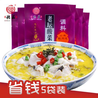 德莊老壇酸菜魚調料350g*5袋裝正宗四川重慶泡菜調料
