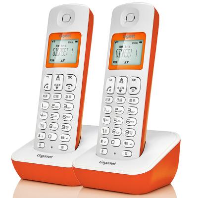 德国集怡嘉(Gigaset)原西门子品牌电话机A190数字无绳电话办公固定电话家用无线固话座机子母机电话 一拖一