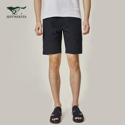 七匹狼短褲夏季戶外休閑男士彈力運動褲輕薄透氣防潑水五分褲