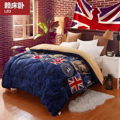 赖床卧家纺 羊羔绒被子冬被加厚保暖宿舍冬季棉被单人双人被芯春秋被褥