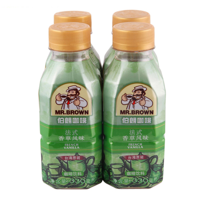 MR.BROWN伯朗咖啡法式香草风味咖啡饮料330ML*4