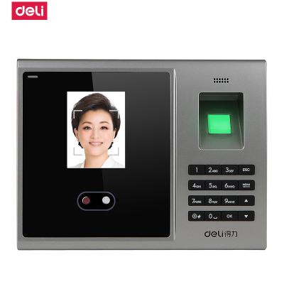 得力deli人臉考勤機3749指紋式打卡機面部刷臉識別指紋機簽到機