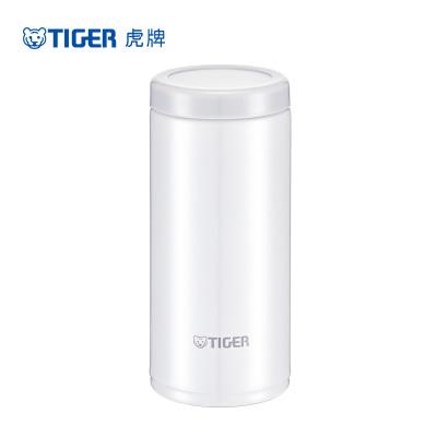 虎牌 (tiger)保溫杯MOC-A20C 白色 304不銹鋼真空保溫杯 便攜迷你 200ml