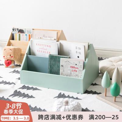 阿楹 北歐實木桌面寶寶兒童書架繪本置物架 桌上飄窗書本小型收納