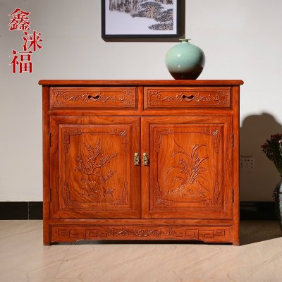HOTBEE紅木餐邊柜新中式實木玄關柜花梨木儲物柜現代簡約茶水柜酒柜邊柜