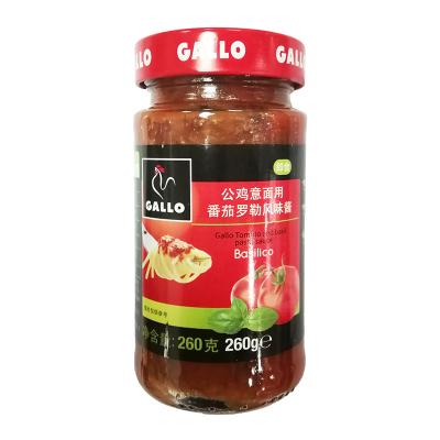 GALLO公雞 番茄羅勒風味醬意大利面醬醬料拌飯醬260g瓶裝