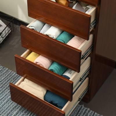 床頭柜實木簡約現代臥室床邊柜收納儲物小柜子斗柜斗櫥夾縫柜家具