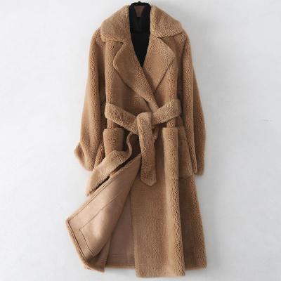 2019冬季新款羊毛皮大衣女士时尚复合皮毛一体外套