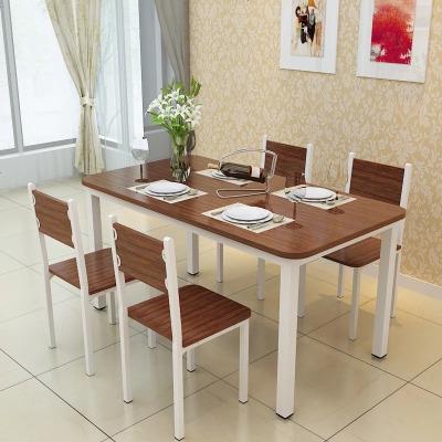 HOTBEE餐桌椅组合桌子一桌六椅家具靠背茶楼仿实木简易桌饭厅快餐厅套装