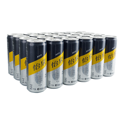 怡泉苏打水 Sleek Can 330ml*24罐/箱 可口可乐出品 (新老包装随机发货)