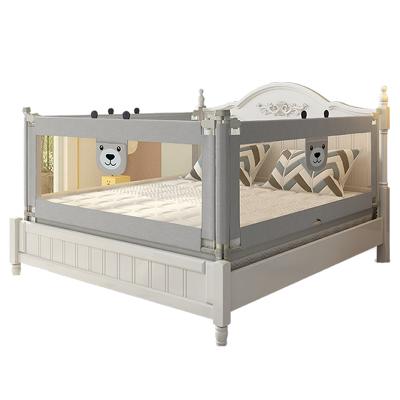 【發順豐】KDE嬰兒童大床護欄床欄桿床邊護欄床擋板寶寶床圍欄防摔防掉垂直升降1.5米灰灰熊