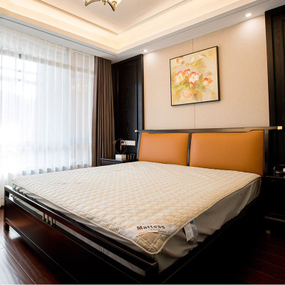 邁菲詩新中式實木雙人床1.8m簡約現代中式主臥婚床單床酒店民宿家具定制