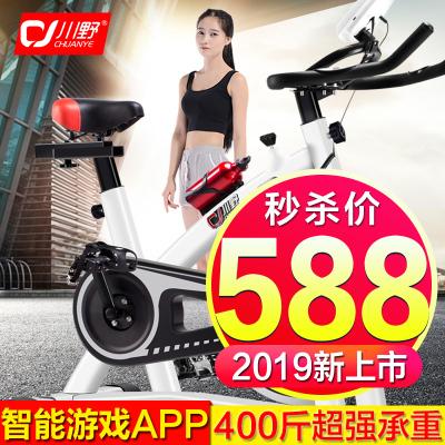 川野CY-III健身车2019年家用动感单车运动自行车刹车片直立式室内健身车 静音 健身器材脚踏车
