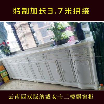 顧致餐邊柜歐式白色高柜廚房客廳飯廳餐廳柜子儲物柜配餐柜超薄歺邊柜