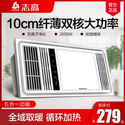 志高(CHIGO)風暖浴霸燈五合一300*600*100取暖家用嵌入式集成吊頂衛生間暖風機2800瓦照明暖風模塊