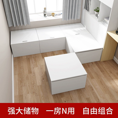 榻榻米定做床柜一體箱體組合箱子魔方儲物床現代簡約香港積木盒子