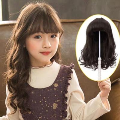 兒童假發頭飾女童發套全頭寶寶公主嬰幼兒可愛造型長卷發仿真頭套