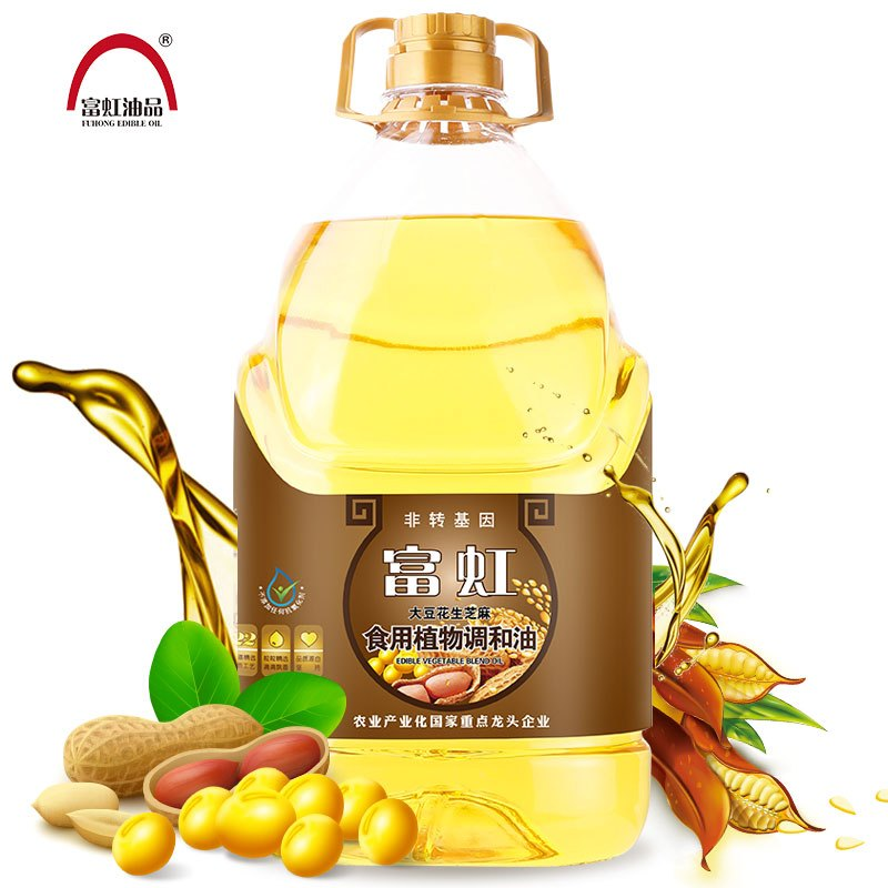富虹油品 食用植物调和油5L 非转基因