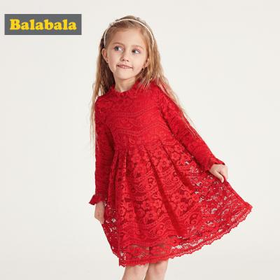 【1件5折】巴拉巴拉童装女童连衣裙春季2019新款小童宝宝蕾丝裙子儿童公主裙