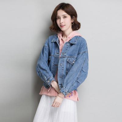 絲柏舍2019秋裝女時尚簡約長袖寬松短款牛仔外套S93D0007A