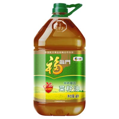 中糧福臨門非轉基因AE營養壓榨菜籽油4L/桶風味營養菜籽食用油