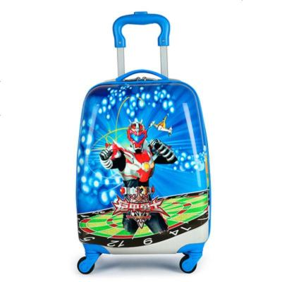 景榮兒童卡通可愛小孩書男女童包拉桿行李旅行箱子公主萬向輪18寸新品 藍深色 18寸鎧甲