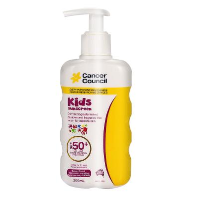 【儿童专用防晒】Cancer Council 美皙防晒霜儿童防晒乳呵护200ml3-12岁各种肤质