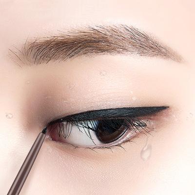 嘉謎眼線筆 硬頭鉛筆式持久不暈染防水 女新手初學者極細膠筆眼線膏