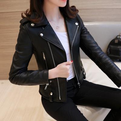 佐露絲RALOS 小皮衣女短款pu皮外套2020春夏新款大碼海寧機車皮夾克韓版修身潮
