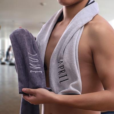 黛鬟納米纖維12月份專業運動毛巾羽毛球跑步健身房加長柔軟吸汗運動巾