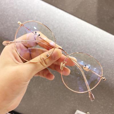 【精品好貨】眼鏡框女無度數女韓版學生圓臉近視眼鏡防輻射藍光熊貓款眼鏡女潮 邁詩蒙