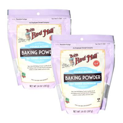 原裝進口 鮑勃紅磨坊(Bob'sRedMill)無鋁 泡打粉 發酵粉 蛋糕發酵烘焙膨松劑397g*2包