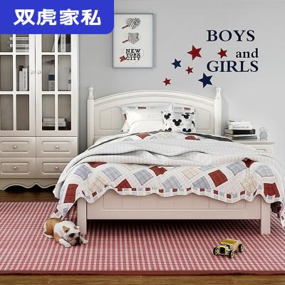 雙虎家私兒童床女孩公主床1.5米小孩床1.2青少年臥室家具套裝13M5
