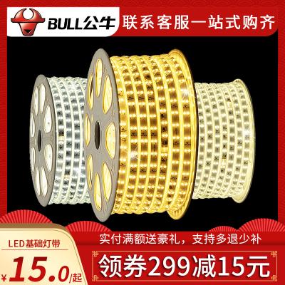 bull公牛led灯带灯条客厅卧室吊顶长条线灯照明220v白光暖白光自然光条灯家用软灯带