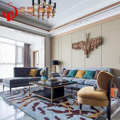 轻奢后现代沙发组合 新古典家具别墅港式沙发 客厅样板间整装定制