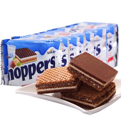 【美食博主推荐】Knoppers 德国牛奶榛子巧克力威化饼干 8连包 200g 夹心饼干 巧克力 糖巧 Knopper