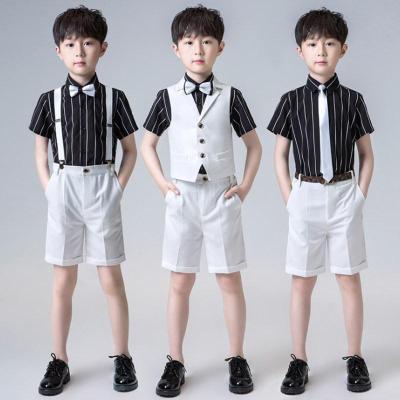 兒童小西裝花童禮服男鋼琴六一演出服西服英倫三件套2020夏季新