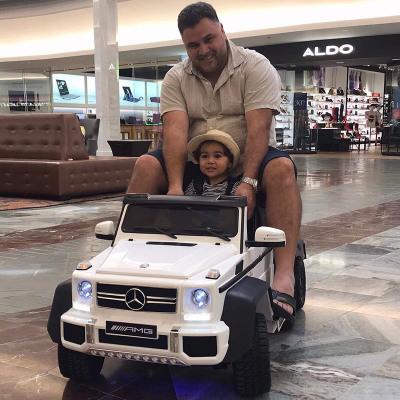 【正版授权】奔驰大g儿童电动汽车四轮遥控越野宝宝玩具车可坐大人双人小孩车星辰皓
