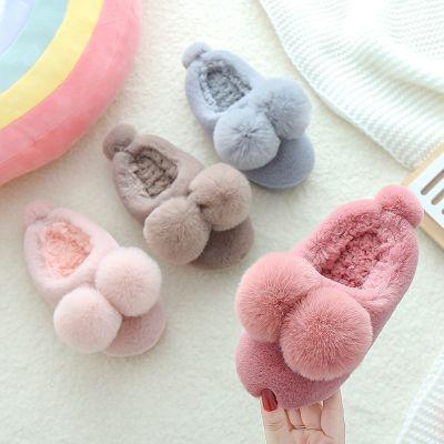 搭啵兔新款兒童棉拖鞋冬防滑寶寶居家男女童2-9歲保暖小孩室內包跟棉鞋