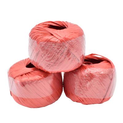 賽拓(SANTO)草球繩 塑料繩捆扎繩 打包捆綁繩 尼龍繩全新料 單個150g 長約120米 紅色3個裝1997