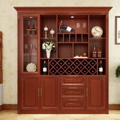 夢引現代簡約紅酒柜定制客廳玄關柜歐式酒柜餐廳隔斷柜高餐邊柜碗櫥柜