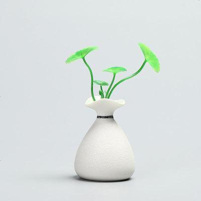陶瓷迷你小花瓶白色简约茶道花插创意水培植物花器现代家居小摆件