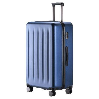 90分旅行箱 静音万向轮行李箱20寸登机箱 纯PC拉杆箱男女旅行箱 极光蓝 20寸