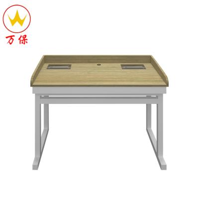 【萬?!哭k公家具 鋼木課桌椅 簡約現代中小學生單人學習桌培訓桌 學習繪畫簡易學習桌