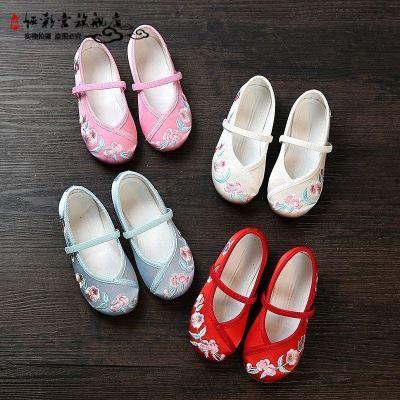 √手工編織鞋傳統布鞋女童鞋繡花鞋兒童古代古裝布鞋漢服鞋radic