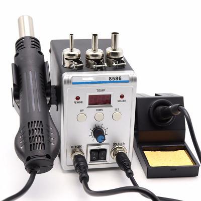 阿斯卡利(ASCARI)數顯可調溫二合一8586熱風拆焊臺智能恒溫電烙鐵套裝自動休眠