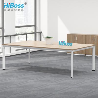 HiBoss會議桌2.4米辦公桌長桌開會培訓桌學習桌